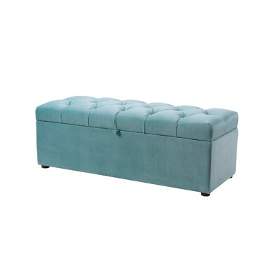 Luyen Tufted Upholstered Storage Bedroom Bench Upholstery: Arctic Blue