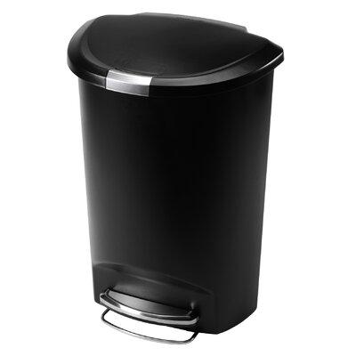 simplehuman 50L Plastic Semi-Round Pedal Bin