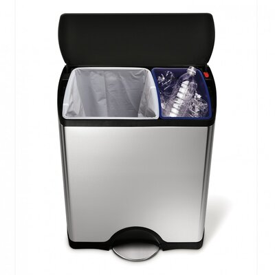 simplehuman Bins 30-Litre Rectangular Recycler with Removable Liner