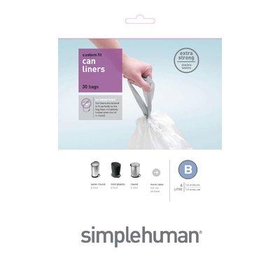 simplehuman 6 Litres Code B Rubbish Bin Liners