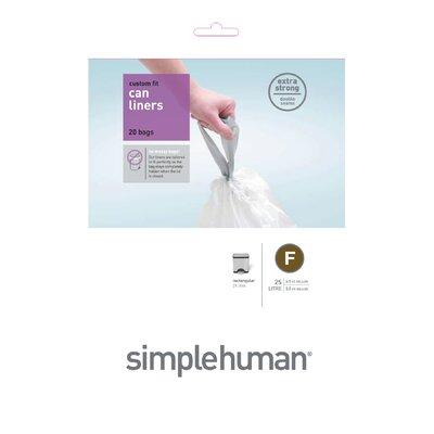 simplehuman 25 Litres Code F Rubbish Bin Liners
