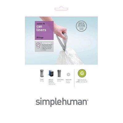 simplehuman 30 Litres Code G Rubbish Bin Liners