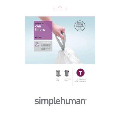 simplehuman 3 Litres Code T Rubbish Bin Liners