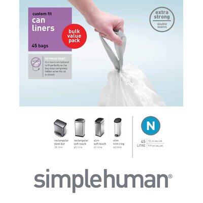 simplehuman Custom Fit Bin Liners (50 Count)