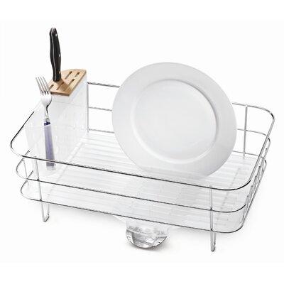 simplehuman Slim Dish Rack in Brushed Stainless Steel