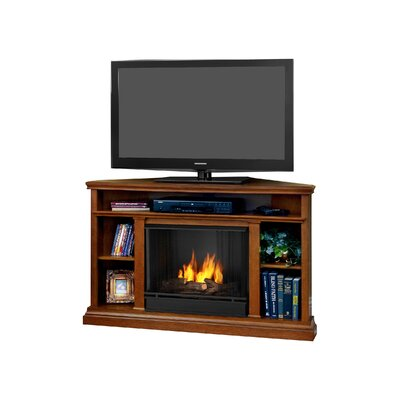 Real Flame Churchill TV Stand with Gel Fuel Fireplace