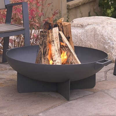 Anson Steel Wood Burning Fire Pit Finish: Gray