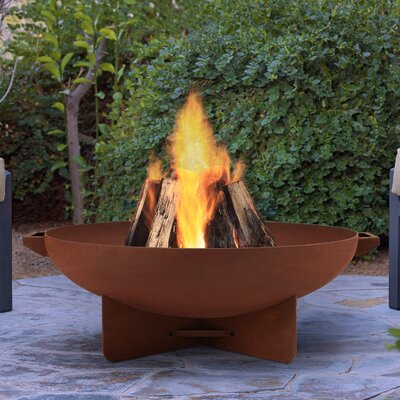 Anson Steel Wood Burning Fire Pit Finish: Rust