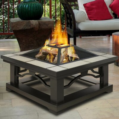 Crestone Steel Wood Burning Fire Pit Table Finish: Gray