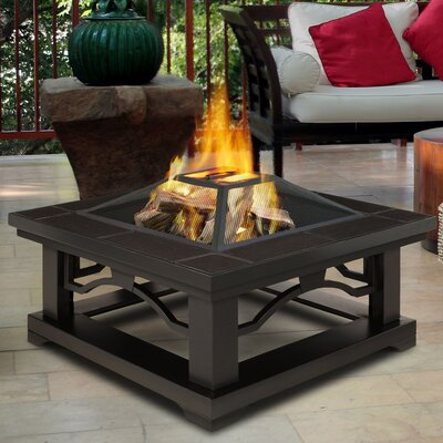 Crestone Steel Wood Burning Fire Pit Table Finish: Brown