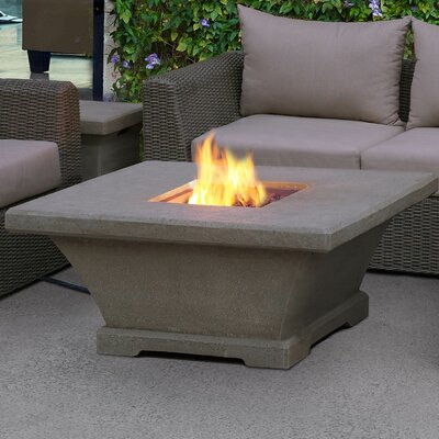 Real Flame Monaco Concrete Propane Fire Pit Table Finish: Gray