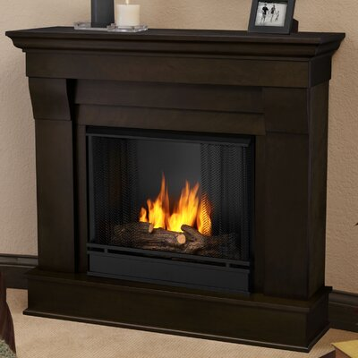 Chateau Gel Fuel Fireplace Finish: Dark Walnut