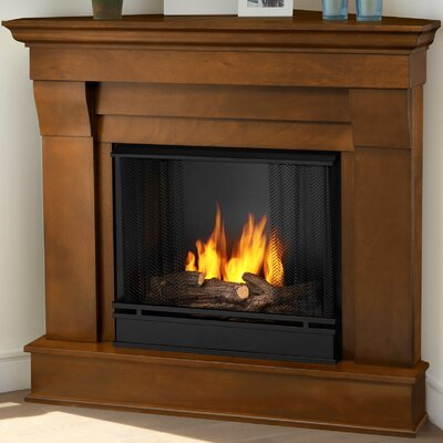 Chateau Corner Gel Fuel Fireplace Finish: Espresso