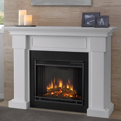 Hillcrest Electric Fireplace Finish: White