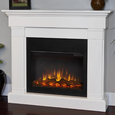 The Crawford Electric Fireplace Finish: White