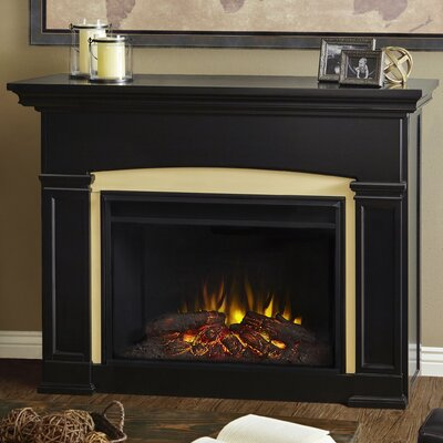 Holbrook Grand Electric Fireplace Finish: Black