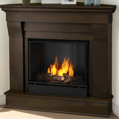 Chateau Corner Gel Fuel Fireplace Finish: Dark Walnut