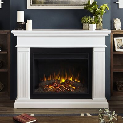 Kennedy Grand Electric Fireplace Finish: White