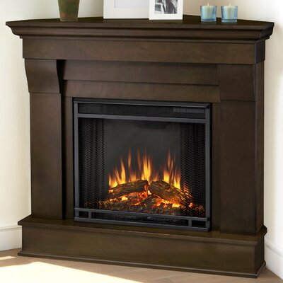 Chateau Corner Electric Fireplace Finish: Espresso