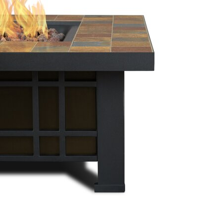 Real Flame Morrison Steel Propane Fire Pit Table