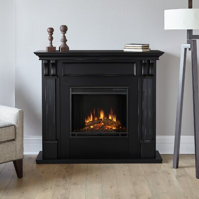 Ashley Electric Fireplace Finish: Black Wash