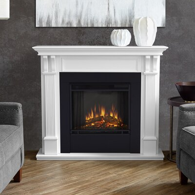 Ashley Electric Fireplace Finish: White