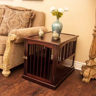 "Pet Crate End Table in Walnut Size: Medium (24"" H x 21"" W x 30"" L)"