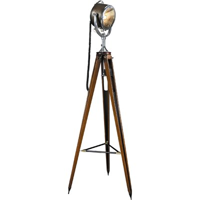 "Authentic Models Half Mile Ray Searchlight 64.6"" Tripod Floor Lamp"