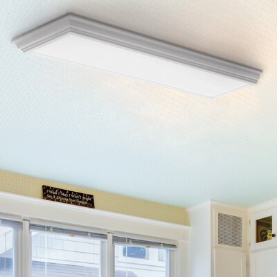 Cambridge LED Semi Flush Mount Finish: White
