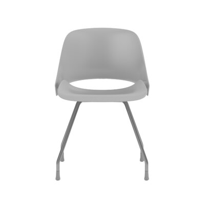 Trea High-Back Desk Chair Color: Satin Metal/Gray