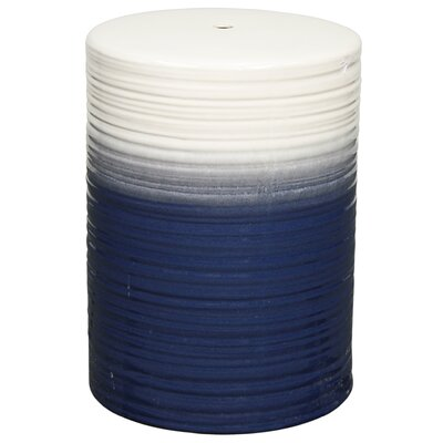 Sudbury Swirl Garden Stool Color: Blue