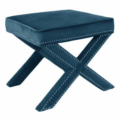 Gerace Nailhead Stool Color: Mozart Blue