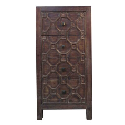 Cher 4 Drawer Chest Color: Antique Brown