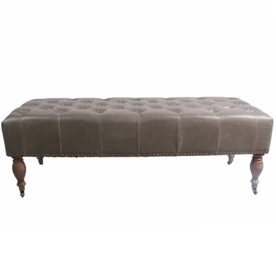 Thorn Bench Upholstery Color: Vintage Gray
