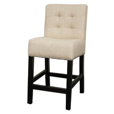 """Osceola 23.5"""" Bar Stool Upholstery: Flax"""