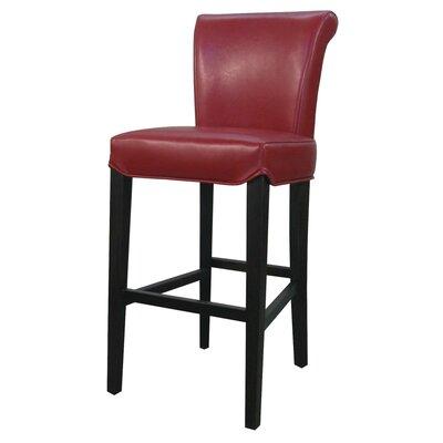 """Lehner 30"""" Bar Stool Upholstery: Red"""