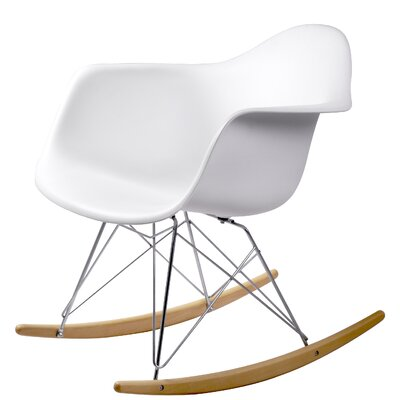 Breana White Rocking Chair