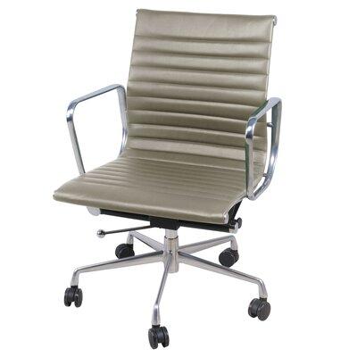 Boudreaux PU Office Desk Chair Color: Vintage Smoke Gray