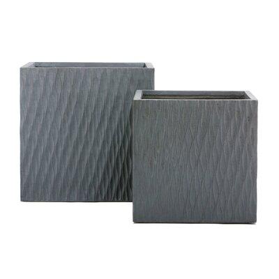 Drift Cube 2-Piece Clay Planter Box Set