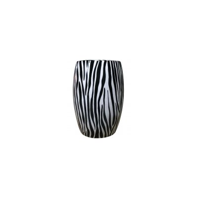 Zebra Ceramic Stool