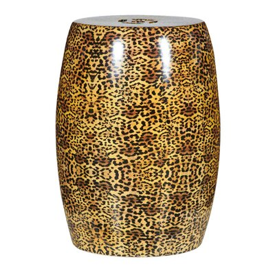 Cheetah Ceramic Stool