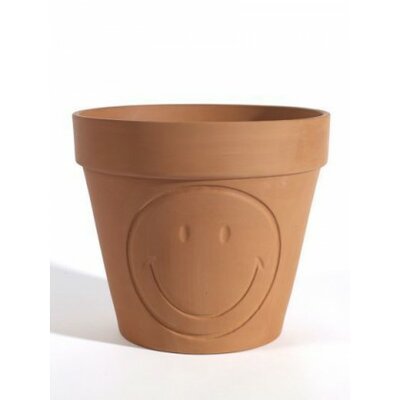 "Allshouse Smiley Ceramic Pot Planter Size: 7.02"" H x 7.8"" W x 7.8"" D"
