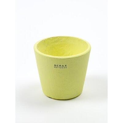 "Ayotte Round Large Ceramic Pot Planter Size: 2.925"" H x 2.925"" W x 2.925"" D, Color: Yellow"