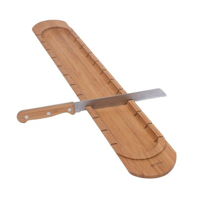 Serax 2 Piece Bamboo Bread Cutting Board with Knife
