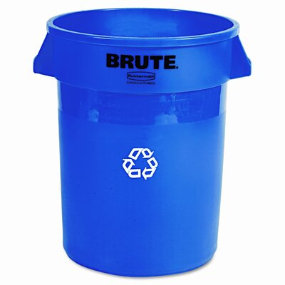 Rubbermaid Commercial Products Brute 32-Gal Curbside Recycling Bin