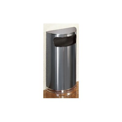 Rubbermaid Commercial Products 9-Gal European Designer Half Round Receptacle