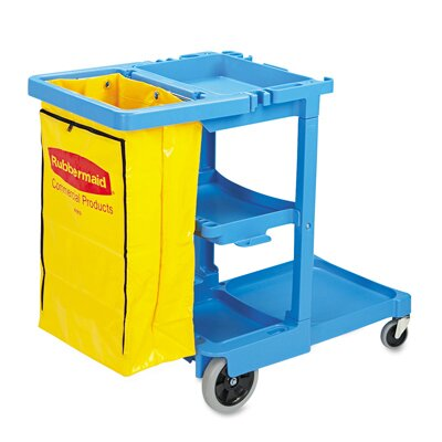 Rubbermaid Commercial Products Multi-Shelf Cleaning Utility Cart