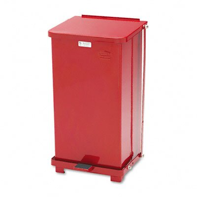 Rubbermaid Commercial Products 12-Gal Defenders Square Biohazard Step Can