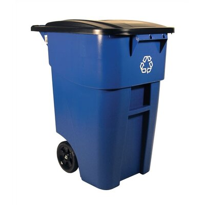 Rubbermaid Commercial Products Brute Rollout 50-Gal Industrial Recycling Bin