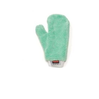 Rubbermaid Commercial Products HYGEN™ Microfiber Dusting Mitt in Green